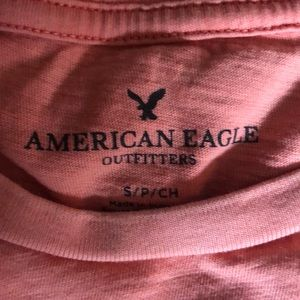 American Eagle Outfitters Shirts - American Eagle pink short sleeve shirt with pocket
